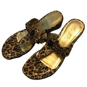 Marc Fisher Shoes - Marc Fisher Leopard Patent Leather Thong Sandal